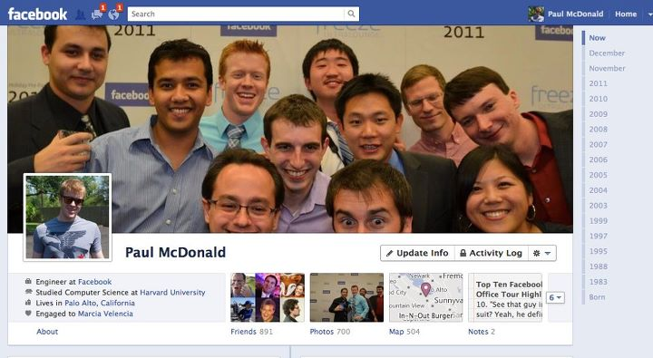 The Facebook :Timeline Now Available Worldwide